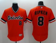 Wholesale Cheap Orioles #8 Cal Ripken Orange Flexbase Authentic Collection Cooperstown Stitched MLB Jersey
