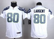 Wholesale Nike Seahawks #80 Steve Largent White Youth Stitched NFL Elite Jersey