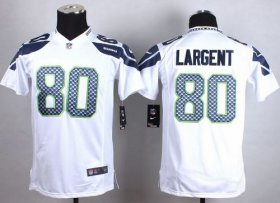 Wholesale Cheap Nike Seahawks #80 Steve Largent White Youth Stitched NFL Elite Jersey