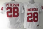Wholesale Cheap Oklahoma Sooners #28 Adrian Peterson White Jersey