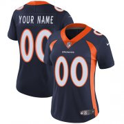 Wholesale Cheap Nike Denver Broncos Customized Navy Blue Alternate Stitched Vapor Untouchable Limited Women's NFL Jersey