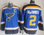Wholesale Cheap Blues #2 Al MacInnis Light Blue CCM Throwback Stitched NHL Jersey