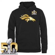 Wholesale Cheap Men's Denver Broncos Pro Line Black Gold Super Bowl 50 Collection Pullover Hoodie