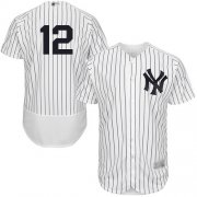 Wholesale Cheap Yankees #12 Troy Tulowitzki White Strip Flexbase Authentic Collection Stitched MLB Jersey