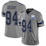 Wholesale Cheap Nike Cowboys #94 Randy Gregory Gray Men's Stitched With Established In 1960 Patch NFL Limited Inverted Legend Jersey