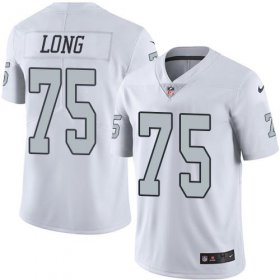 Wholesale Cheap Nike Raiders #75 Howie Long White Men\'s Stitched NFL Limited Rush Jersey
