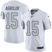 Wholesale Cheap Nike Raiders #15 Nelson Agholor White Men's Stitched NFL Limited Rush Jersey