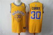 Wholesale Cheap Nike Warriors 30 Stephen Curry 2019 Gold NBA Swingman City Edition Jersey