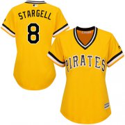 Wholesale Cheap Pirates #8 Willie Stargell Gold Alternate Women's Stitched MLB Jersey