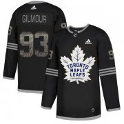 Wholesale Cheap Adidas Maple Leafs #93 Doug Gilmour Black Authentic Classic Stitched NHL Jersey