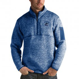 Wholesale Cheap Vancouver Canucks Antigua Fortune Quarter-Zip Pullover Jacket Blue