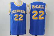 Wholesale Cheap Crenshaw 22 McCall Blue Stitched Movie Jersey
