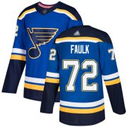 Wholesale Cheap Adidas Blues #72 Justin Faulk Blue Home Authentic Stitched NHL Jersey