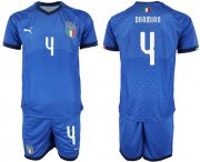 Wholesale Cheap Italy #4 Darmian Home Soccer Country Jersey