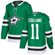Cheap Adidas Stars #11 Andrew Cogliano Green Home Authentic Youth Stitched NHL Jersey
