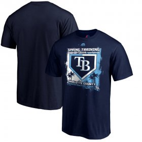 Wholesale Cheap Tampa Bay Rays Majestic 2019 Spring Training Grapefruit League Base on Ball T-Shirt Navy