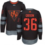 Wholesale Cheap Team North America #36 John Gibson Black 2016 World Cup Stitched Youth NHL Jersey