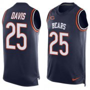 Wholesale Cheap Nike Bears #25 Mike Davis Navy Blue Team Color Men's Stitched NFL Limited Tank Top Jersey