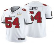 Wholesale Cheap Men's Tampa Bay Buccaneers #54 Lavonte David White 2021 Super Bowl LV Limited Stitched NFL Jersey