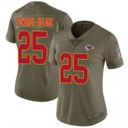 Wholesale Cheap Nike Chiefs #25 Clyde Edwards-Helaire Olive Women's Stitched NFL Limited 2017 Salute To Service Jersey