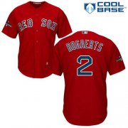 Wholesale Cheap Red Sox #2 Xander Bogaerts Red Cool Base 2018 World Series Champions Stitched Youth MLB Jersey