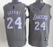 Wholesale Cheap Los Angeles Lakers #24 Kobe Bryant Gray Shadow Jersey