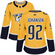Wholesale Cheap Adidas Predators #92 Ryan Johansen Yellow Home Authentic Women's Stitched NHL Jersey
