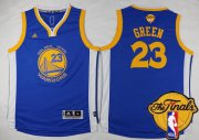 Wholesale Cheap Men's Golden State Warriors #23 Draymond Green Blue 2017 The NBA Finals Patch Jersey
