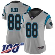 Wholesale Cheap Nike Panthers #88 Greg Olsen Silver Women's Stitched NFL Limited Inverted Legend 100th Season Jersey