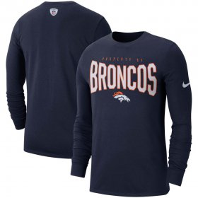 Wholesale Cheap Denver Broncos Nike Sideline Property Of Performance Long Sleeve T-Shirt Navy