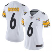 Wholesale Cheap Nike Steelers #6 Devlin Hodges White Women's Stitched NFL Vapor Untouchable Limited Jersey