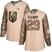 Wholesale Cheap Adidas Golden Knights #29 Marc-Andre Fleury Camo Authentic 2017 Veterans Day Stitched Youth NHL Jersey