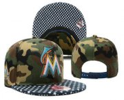 Wholesale Cheap MLB Miami Marlins Snapback Ajustable Cap Hat YD