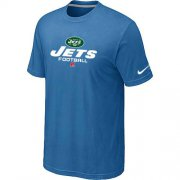 Wholesale Cheap Nike New York Jets Critical Victory NFL T-Shirt Light Blue