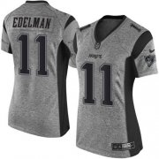 Wholesale Cheap Nike Patriots #11 Julian Edelman Gray Women's Stitched NFL Limited Gridiron Gray Jersey
