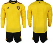 Wholesale Cheap Belgium Blank Away Long Sleeves Soccer Country Jersey