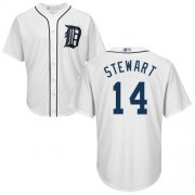 Wholesale Cheap Tigers #14 Christin Stewart White New Cool Base Stitched MLB Jersey