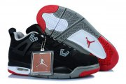 Wholesale Cheap Air Jordan 4 Womens Shoes black/red-gray-white