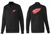 Wholesale Cheap NHL Detroit Red Wings Zip Jackets Black-1