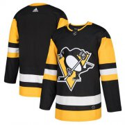 Wholesale Cheap Adidas Penguins Blank Black Home Authentic Stitched NHL Jersey