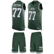 Wholesale Cheap Nike Jets #77 Mekhi Becton Green Team Color Men's Stitched NFL Limited Tank Top Suit Jersey