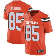 Wholesale Cheap Nike Browns #85 David Njoku Orange Alternate Men's Stitched NFL Vapor Untouchable Limited Jersey