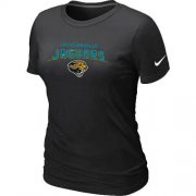 Wholesale Cheap Women's Nike Jacksonville Jaguars Heart & Soul NFL T-Shirt Black