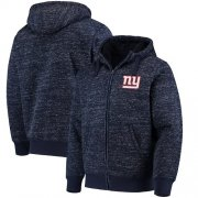 Wholesale Cheap Men's New York Giants G-III Sports by Carl Banks Heathered Navy Discovery Sherpa Full-Zip Jacket