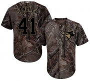 Wholesale Cheap Blue Jays #41 Aaron Sanchez Camo Realtree Collection Cool Base Stitched Youth MLB Jersey