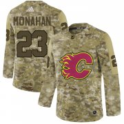 Wholesale Cheap Adidas Flames #23 Sean Monahan Camo Authentic Stitched NHL Jersey
