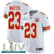 Wholesale Cheap Nike Chiefs #23 Armani Watts White Super Bowl LIV 2020 Youth Stitched NFL Vapor Untouchable Limited Jersey