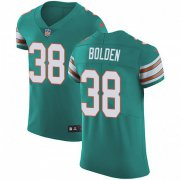 Wholesale Cheap Nike Dolphins #38 Brandon Bolden Aqua Green Alternate Men's Stitched NFL Vapor Untouchable Elite Jersey