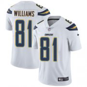 Wholesale Cheap Nike Chargers #81 Mike Williams White Men's Stitched NFL Vapor Untouchable Limited Jersey