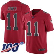Wholesale Cheap Nike Falcons #11 Julio Jones Red Men's Stitched NFL Limited Rush 100th Season Jersey